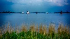 Sailing (Travis Daki) Tags: sail sailing boats canal lake summer blue sky nature water holland dutch