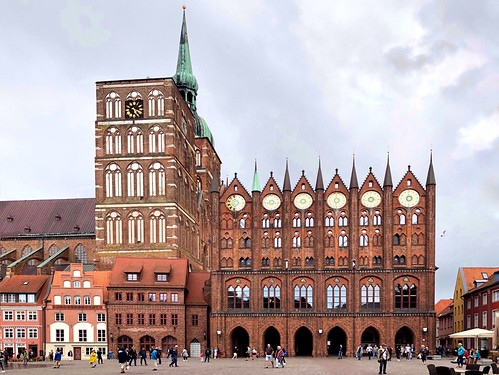 The historical old town hall of Stralsund