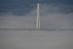 La voie des airs (Michel Seguret Thanks for 13.7 M views !!!) Tags: france aveyron millau pont bridge viaduc viaduct brouillrd fog mist brume michelseguret nikon d800 pro larzac