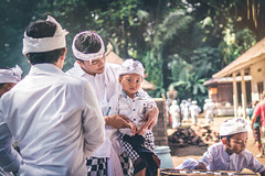 BALI, INDONESIA - JULY 4, 2018: Balinese children on a traditional ceremony. (Artem Bali) Tags: balinese asia child indonesia asian bali indonesian traditional culture people young boy kid smile travel happy outdoor editorial person portrait cute face beautiful childhood lifestyle little fun girl happiness looking male hinduism style food ceremony hindu decoration outside celebration human tropical white poverty offering group silenceday dress knowledge ubud children