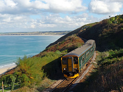 150265 Carbis Bay (3) (Marky7890) Tags: gwr 150263 class150 sprinter 2a19 carbisbay railway cornwall stivesbayline train