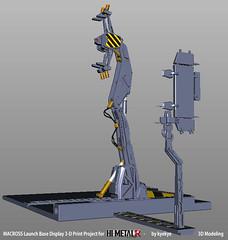 LaunchArmBase_06 (kyewans) Tags: macross himetalr display base launch arm 3d print