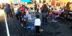 South Park Pavement to Parks - community celebration (Seattle Department of Transportation) Tags: seattle sdot transportation southpark parks pavement community crosswalk colorful paint people space 8thaves cloverdale dayofthedead eva dahvee enciso cool celebration kids bubbles fun october 2018