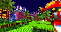 Sonic the Hedgehog game (Chioma Namiboo Jinn) Tags: games sonicthehedgehog lobstercatdesigns sl slphotography slwindlight secondlife secondlifeexploration secondlifephotography fun