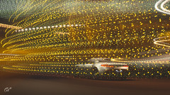 Flow (at1503) Tags: abstract astonmartin db11 astonmartinddb11 yellow light darkness night car motion blur speed movement britishcar supercar gtsport granturismo granturismosport motorsport racing game gaming ps4 red explored