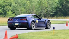 GS powering through the turn (R.A. Killmer) Tags: stingray corvette cone squashed race penalty fast horsepower v8 blue beauty quick racer racing drive scca killer 13 competition autocross