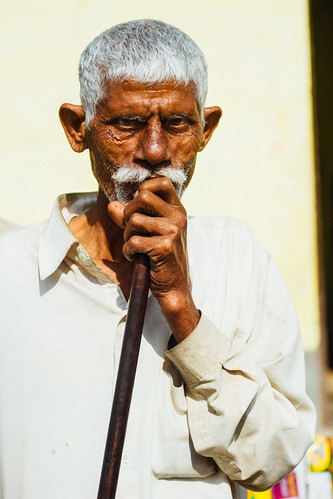 Man Smoking Hookah, Mathura India
