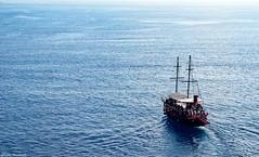"Sailing Ship.. (ICE DESERT "" Ahmed "") Tags: sailing ship boat sea deniz water blue mavi antalya turkey nikon d7000 سفينة مركب بحر ماء نايكون انطاليا تركيا gemi"