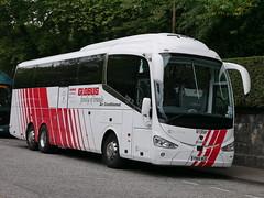 City Circle Coaches of Hayes Scania K410EB6 Irizar i6 YN16WUD 119, in Globus Tours livery, at Regent Road, Edinburgh, on 7 September 2018. (Robin Dickson 1) Tags: citycircle busesedinburgh scaniak410eb6 irizari6 globustours yn16wud