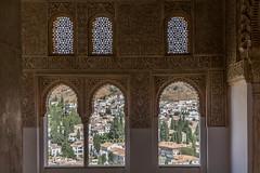 Alhambra Windows and View of Granada (Peter Cook UK) Tags: stockcategories alhambra moorish spain palace architecture window 2018 moors spanish granada
