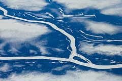 Frozen veins - The beauty of mother earth (Rita Eberle-Wessner) Tags: plane luftbild flugzeug landschaft landscape fluss river frozen ice subarctic subarktisch canada kanada quebec aerialview blue white blau weis
