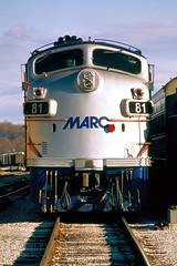 Layover F (DJ Witty) Tags: emd dieselelectric locomotive train photography rr railroad passengertrain commuter marc f9ph funit nikon n8008 brunswick maryland usa