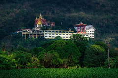 Mountain temple (grantthai) Tags: temple forest wood wat monks buddha thailand kanchanaburi dawn sunrise morning