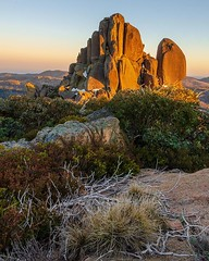 Early morning sun hitting the Cathedral at Mount Buffalo (kleem9) Tags: early morning sun hitting cathedral mount buffalo