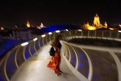 Love in Sevilla (Anna Pavliv .) Tags: sevilla lassetas setas spain espana girl flowers view city urban paysage siviglia live love summer impressionist surreal art architecture light sonya6000 travel explore night sevillabynight