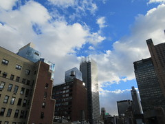 2018 October Cloud Strewn Sky Reflection NYC 2568 (Brechtbug) Tags: 2018 october cloud strewn sky nyc virtual clock tower from hells kitchen clinton near times square broadway new york city midtown manhattan stormy weather building no hanging cumulonimbus blue cumulus nimbus fall hell s nemo southern view ny1 10132018