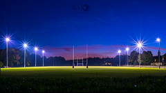 Empty Rugby Field (Bajo Rogan) Tags: england greatbritain uk rugby football game score pitch rugbypitch rugbyfield sports champion competition results bet betting dusk green