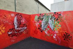 L'envol (HBA_JIJO) Tags: streetart urban graffiti vitry vitrysurseine pochoir stencil animal art france stew hbajijo wall mur painting oiseau peinture bird paris94 urbain