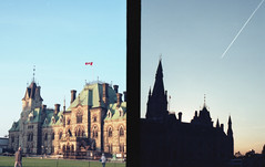 Parliament (Kuweba) Tags: ottawa capital city parliament canada architecture building 35mm halfframe diptych olympus penft