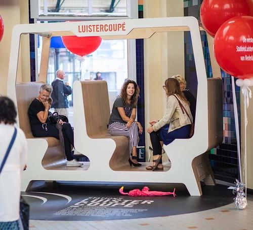 Cloudbuster Rond Bedrukt Opening Luistercoupe Sation Leeuwarden