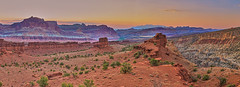 Sunrise at Sunset point (Valley Imagery) Tags: capital reef national park utah red canyon sunrise sunset point panorama sigma 50mm color painted desert sony a99ii road trip summer solitude peaceful erosion cliffs landscape waterpocket fold