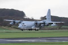 166514  US Marine C130 (Dougie Edmond) Tags: military aircraft airplane airport egpk pik prestwick scotland unitedkingdom gb
