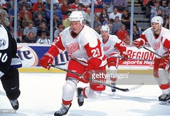 #23 Todd GILL in action (kirusgamewornjerseys) Tags: detroit red wings todd gill toddgill detroitredwings game worn jersey ice hockey nhl