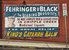 The Leading Druggists (Rusty Karr) Tags: colorado ghost sign old faded past drugs small town mining historic gold silver patent medicine