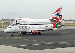 Kenya Airways                             Embraer  E190                                       5Y-FFF (Flame1958) Tags: kenyaairways kenyaairwayse190 kenyae190 embraer e190 190 5yfff cpt capetownairport s6 samsung samsungs6 021117 1117 2017
