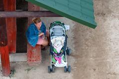 _DSC1460.jpg (Kaminscy) Tags: stroller roztocze jozefow fromabove bench woman child europe zamojszczyzna poland józefów lubelskie pl