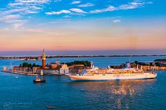 Venice - Italy (figatz) Tags: venice italy venezia italia europe clocktower photography nikon d5300 cruise church sunset water colourful tourism travel boat cityscape