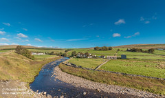 North to Langdon Beck Panorama Sep 2018 (Richard Laidler) Tags: aonb agriculture areaofoutstandingnaturalbeauty autumn barns beck bluesky bright buildings clear countydurham farm farmhouse farming farmland farms fields fine globalgeopark harwoodbeck hillfarms landscape langdonbeck meadows northeastengland northpennines northpenninesaonb panorama panoramic pastures pennine rural stream sun sunny sunshine teesdale uk upperteesdale whitewashed