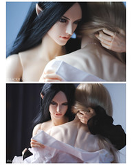 Yin and Yang (Sackielc) Tags: abjd bjd asian ball jointed doll soom super gem obsidius fairyland feeple65 pygmaliondoll pygmalion ha dollstown 17 body hybrid hybrids photostory photography xandor william boys love bl bjdmod sackielc