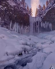 Winter Afinity (alan howe) Tags: tamanawas mthood winter waterfall frozen ligth oregon