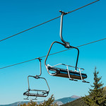 Chairlifts Against the Blue Sky at the Old Mountain, Serbia thumbnail