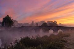 Misty Dawn (jactoll) Tags: bidfordonavon warwickshire dawn dawnmist mist misty riveravon bridge light landscape sony a7iii sony2470mmf28gm jactoll