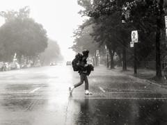 surprise (photosgabrielle) Tags: photosgabrielle noiretblanc bwphotography streetphotography urban urbain bwmontreal people rain pluie