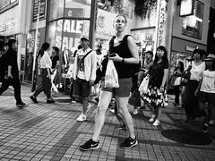 Woman! (takana1964) Tags: streetphotography streetsnap snap street snapshot streetshot citysnap citystreet city cityphotography monochrome blackandwhite bnw osakacity japan olympus