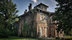 oh how the mighty have fallen... (BillsExplorations) Tags: abandonedillinois abandoned ruraldecay decay forgotten shuttered bath illinois historical architecture neglect gattonmansion