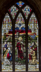 Melton Mowbray, St Mary's church, window (Jules & Jenny) Tags: meltonmowbray stmaryschurch stainedglasswindow