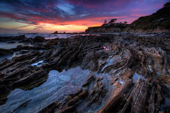 Corona Del Mar Sunset (ADW44) Tags: newportbeach coronadelmar pacificocean sunse leefilters rocks orangecounty water beach twilight bluehour