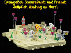 Jellyfish Hunting on Mars (justin_m_winn) Tags: lego moc spongebob squarepants patrick star sandy cheeks space rocket ship mars