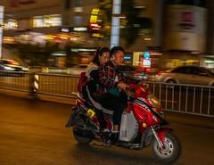 Chengdu modern (motor) biking at night-22 (walterkolkma) Tags: china chengdu sichuan bike motor biking night ride portraits cycle motorbike riding walter kolkma panasonic gx850
