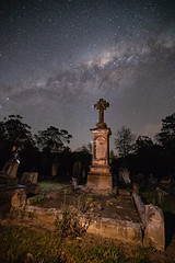 Light after life (nightscapades) Tags: astronomy astrophotography cemetery galacticcore graves headstone jupiter kangaroovalley mars milkyway night nightscapes nowra planets saturn shoalhaven sky southcoastnsw southernhighlands stars zodiacallight