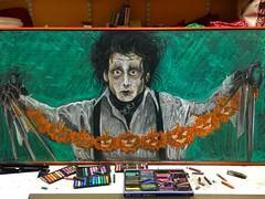 Edward Scissorhands (monana83) Tags: halloween chalkboard chalkart chalk