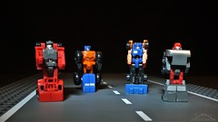 Micromaster Off Road Patrol (Klinikle) Tags: transformers micromaster autobot patrol robot off road offroad tote mudslinger powertrain highjump hasbro