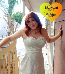 Bridal2018 (MaryAnn Ginger) Tags: bridal cd crossdress trans tranny white wedding redhead sexy glamour
