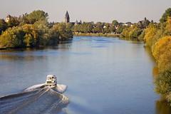evening drive (Sabinche) Tags: main river hesse boat grosauheim olympus sabinche