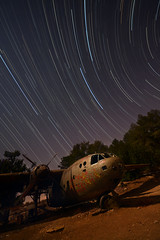 In between (FX-1988) Tags: nord aricraft airplane aviation night star trails startrails trail outdoor long exposure noratlas israel abandoned rust astronomy astrophotography מטוס ישראל לילה כוכבים
