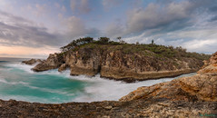 North Gorge Morning (ian_underthesea) Tags: ocean sea seascapes landscape panoramic coastal coast rocks surf turquoise tropical north australia queensland straddie slow filter shutter long exposure cliff waves danger rough rugged beach beautiful mist